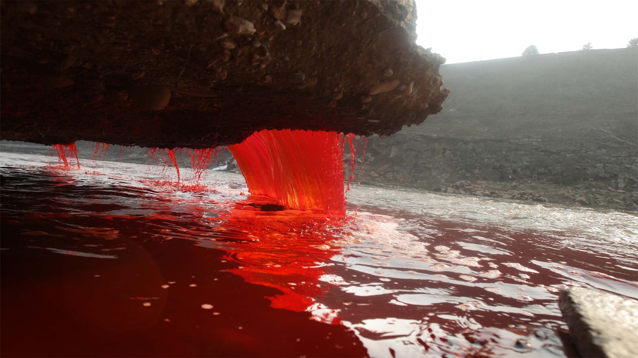 Misterious blood water